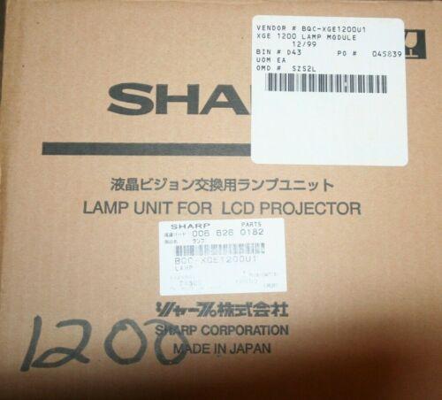 GENUINE SHARP Lamp Unit For LCD Projector BQC-XGE1200U1 ~