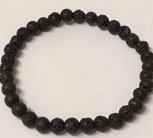 BLACK LAVA BEAD AROMATHERAPY ESSENTIAL OIL DIFFUSER STRETCHY