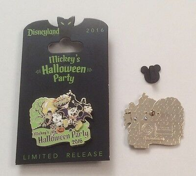 Mickey's Halloween Party 2016 Mickey & Minnie Limited Release Pin Disneyland  (Mickey Mouse Halloween Party Disneyland)