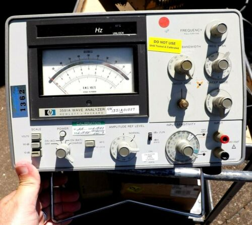 WORKING HP 3581A WAVE ANALYZER WITH CASE COVER Hewlett Packard NICE