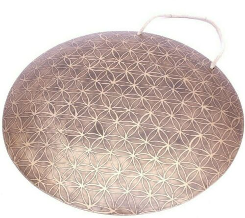 Flower of life carved gong-20 inches Tibetan gong-master quality handmade gong