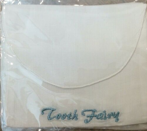 BABY BOY #TF712WC- BLUE - WHITE W/ BLUE EMBROIDERED POUCH FOR TOOTH FAIRY