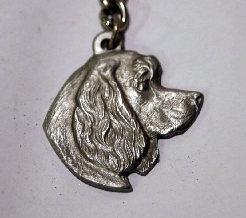 Rawcliff pewter dog keychain, I love my Cocker Spaniel