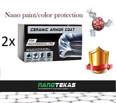 2X Nano Car Body Paint Protection Ceramic Armor Coat Hydrophobic 9H