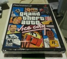 GRAND THEFT AUTO VICE CITY PS2 BLACK LABEL GAME SONY YFOLD FACTORY SEALED NEW