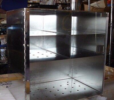 New Pro-fab Stainless Steel Plexiglass Gloveequipment Storage Cabinet