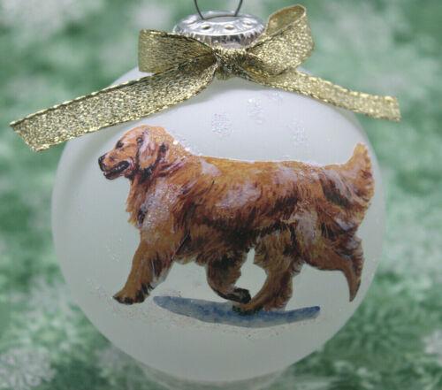 D023 Hand-made Christmas Ornament dog - GOLDEN RETRIEVER - trot walking