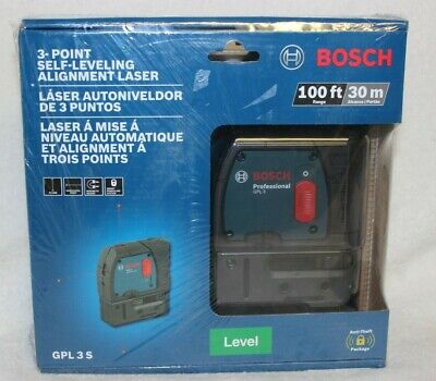 *BRAND NEW SEALED* BOSCH GPL 3 S 100FT 3-Point Self-Leveling Alignment Laser