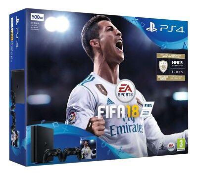 PS4 Slim 500GB Fifa 18 Plus Extra Controller