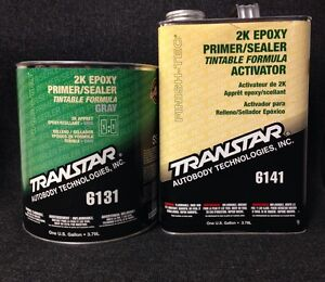 transtar 2k epoxy primer sealer gray tra 6131 6141 gallon. Black Bedroom Furniture Sets. Home Design Ideas