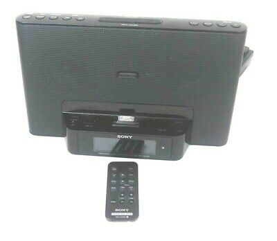 Sony Dream Machine IPod Iphone Radio Speaker Dock Clock Remote Aux ICF-CS15iP