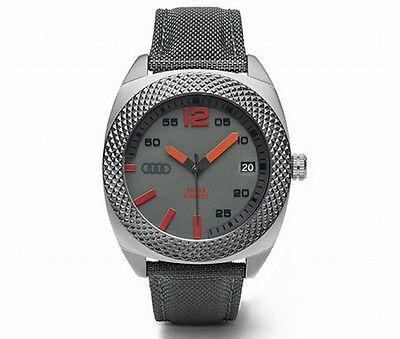 Original Audi Uhr,Audi Armbanduhr,Audi Solaruhr ohne Batterie, 38mm, quantumgrau
