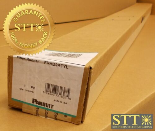 Frhd2ktyl Panduit 2x2 Vertical Slotted Duct Kit W/hinged Snap On Cover 6ft New