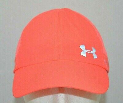 Under Armour Pink Womens Reflective Running Gym Adjustable Hat Cap