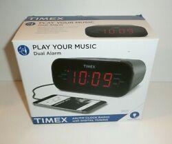 Timex AM/FM Alarm Clock Radio Digital Tuning Programmable Timer Large Display
