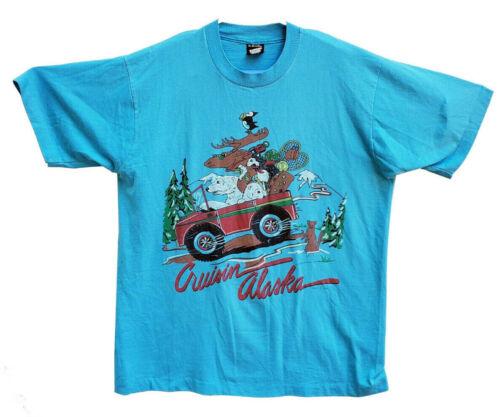 Cruising Alaska Vintage 1989 Single Stitch Shirt Size XL
