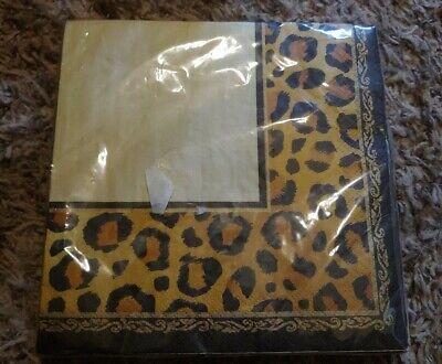 Leopard Print Paper Plates (16 2-Ply Leopard Print Luncheon)