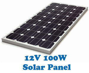 New 100 Watt 12v Monocrystalline Solar Panel 100W