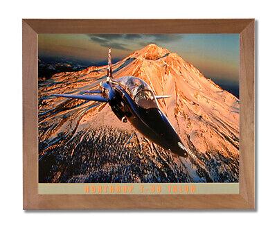 T38 Talon Fighter Jet Airplane Wall Picture Honey Framed Art Print Fighter Jet Framed