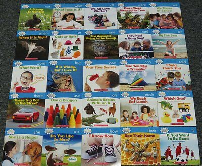25 Books Sight Words Guided Reading Level B Learn to Read NEW Lot PreK K 1st - Learning Sight Words