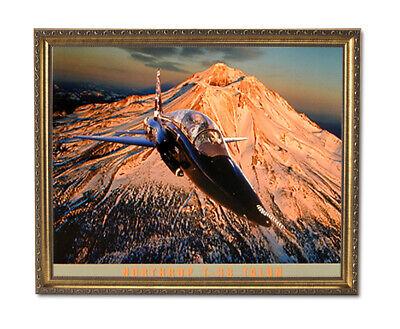 T38 Talon Fighter Jet Airplane Wall Picture Gold Framed Art Print Fighter Jet Framed