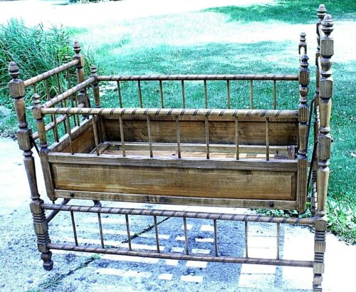 ANTIQUE BABY ROCKER BED  -EXCELLENT CONDITION-RARE STYLE-GREAT LOOKING!