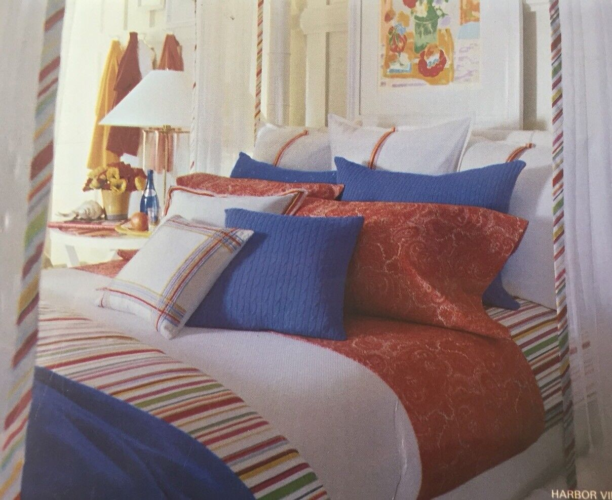 Nwt Ralph Lauren Harbor View King Pillowcases Paisley  # Muebles Ralph Lauren Espana
