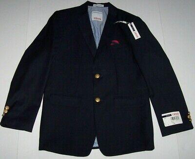 NWT Izod $80 CLASSIC NAVY BLUE Blazer/Suit Jacket/Sport Coat Boys 20 Red Square