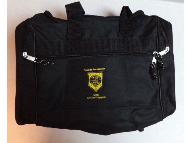 M.I.R.C. SUICIDE AWARENESS PREVENTION GYM BAGS, P/N MIRC-1