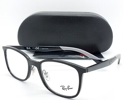 NEW RayBan RX Frame Wayfarer Prescription Glasses Black RX7142 2000 50mm (New Wayfarer Prescription)