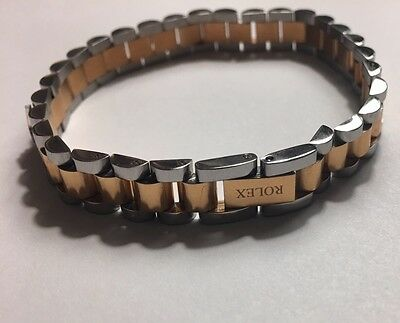 Rolex Two Tone Stateless Steal Unisex BRACELET 8