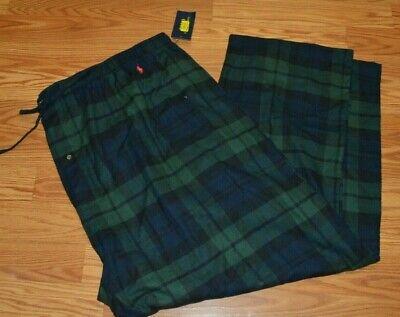 Polo Ralph Lauren Mens Pajama Lounge Pants Sleepwear Plaid Big & Tall Flannel #4 Mens Tall Flannel Pajamas