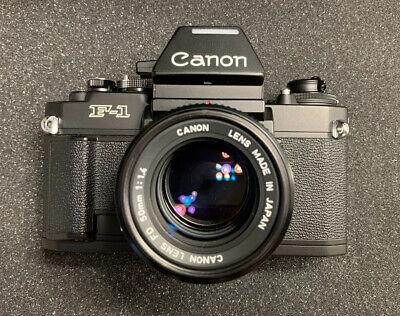 MINT Canon NEW F-1 Camera w/ 50mm f/1.4 Lens Bundle