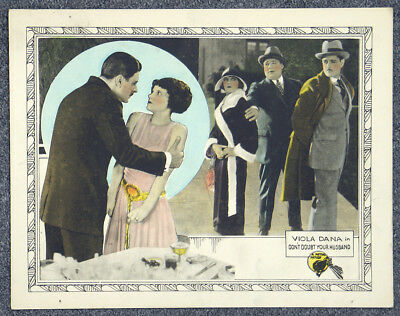 Don't Doubt Your Husband '24 Viola Dana Allan Forrest Orig Silent Lobby Card
