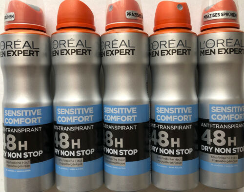 Loreal Men Expert Deospray Sensitiv Comfort Anti-transpirant 5 Stück