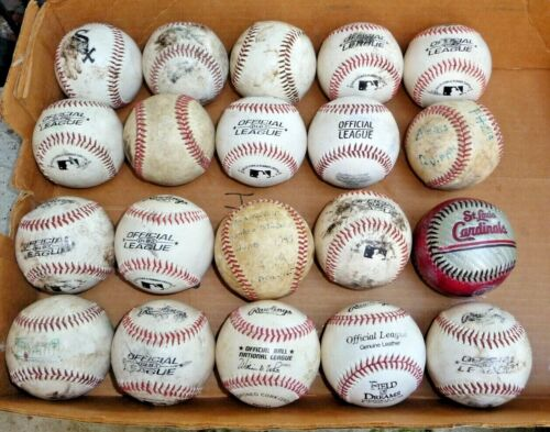 LEAGUE BASEBALLS LOT OF (20) PRACTICE BALLS RAWLINGS and  OTHERS