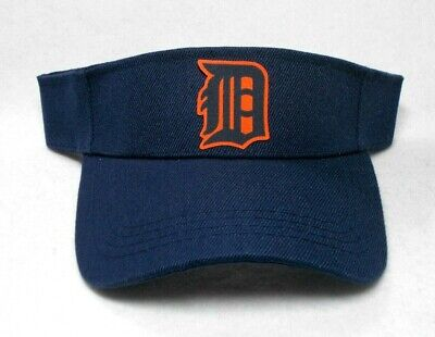 Read Listing! Detroit Tigers Handcrafted flat LOGO on Navy Blue visor cap hat!