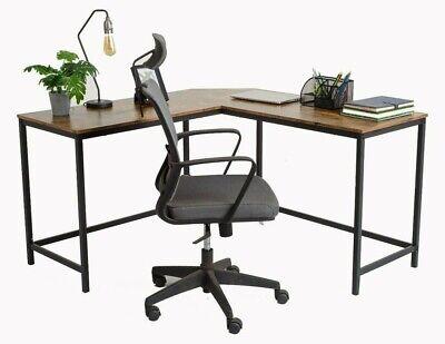 L-Shape Computer Desk Office Workstation Corner Study Desk Industrial Style desk