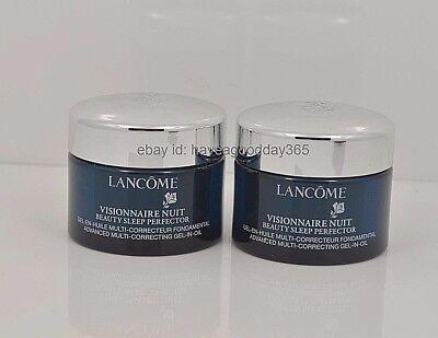 - 2 Lancome Visionnaire Nuit Beauty Sleep Perfector Gel in Oil 0.5 oz x 2 = 1 oz