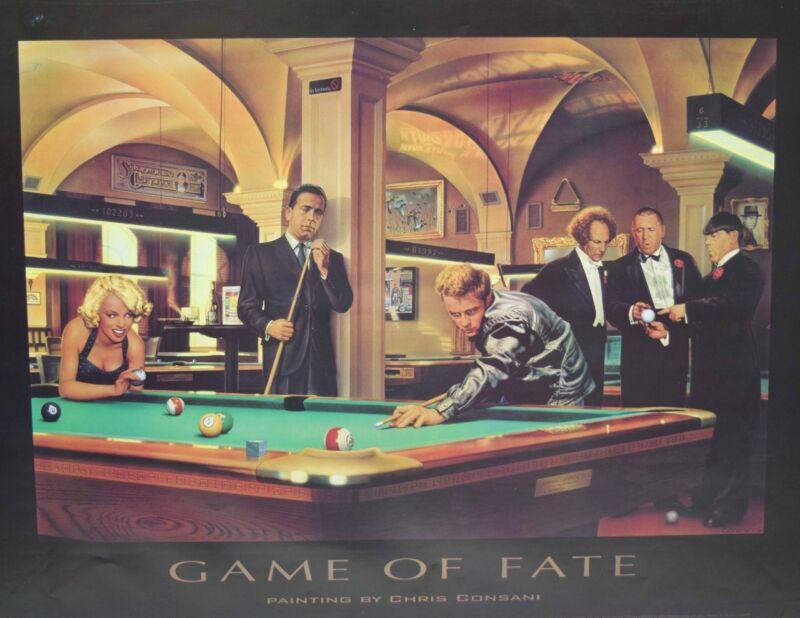 "Brand New Billiard Poster Game of Fate Art Billiards - 24"" x 32"" - FREE SHIPPING"