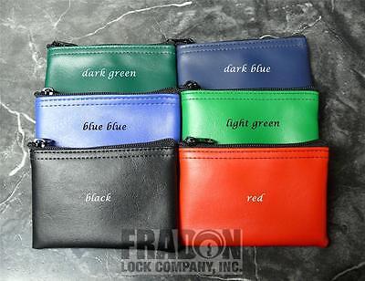2 PACK Wallet Bag Coin Purse Zippered Small Mini New Black Red Blue Green (Mmf Zipper Bags)