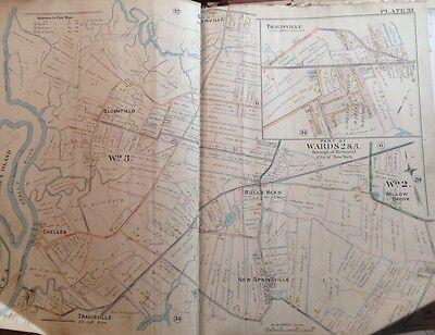 1898 ORIGINAL STATEN ISLAND BLOOMFIELD NEW SPRINGSVILLE ROBINSON ATLAS MAP
