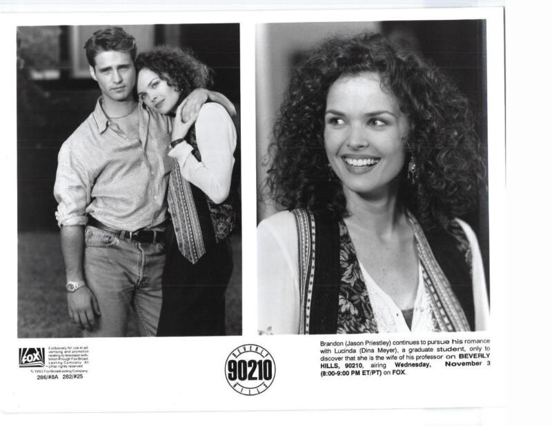 "Jason Priestley Dina Meyer ""Beverly Hills 90210"" TV Still"