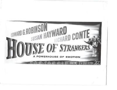 "Edward G. Robinson ""House Of Strangers"" Vintage Movie Still"