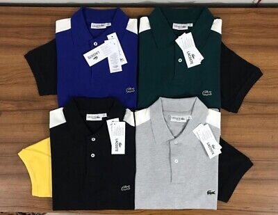 Lacoste Men's Polo Shirt Cotton Slim Fit Short Sleeves / 50 OFF SUMMER SALE