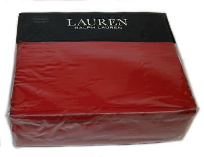 RALPH LAUREN Dunham Admiral Red 4PC QUEEN SHEET SET COTTON SATEEN Christmas Red ()