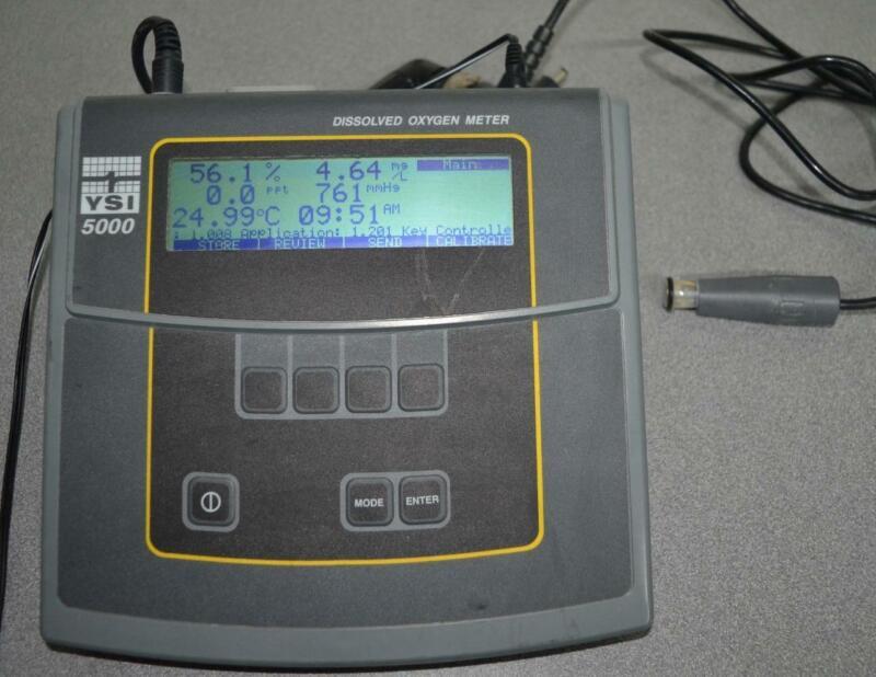 YSI 5000 Dissolved Oxygen Meter w/ 5750 Probe ++