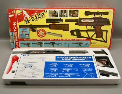 VINTAGE ARCO A-TEAM M-24 ASSAULT RIFLE TARGET GAME SET - NEW IN OPEN BOX