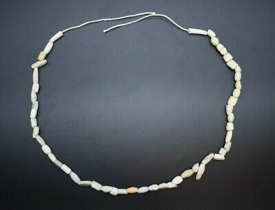 Ancient Romano-Egyptian shell and stone bead necklace 1st Century AD