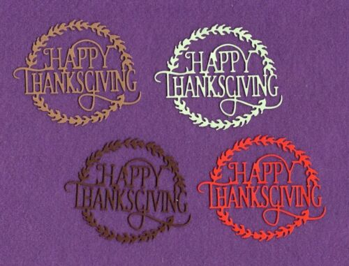 HAPPY THANKSGIVING die cuts scrapbook cards